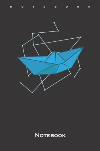 Origami Boat as Paper Shape Notebook: Dot Grid Journal/Logbook for Japanese paper folding fans