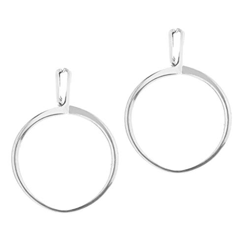PETSOLA 2X Soporte de Diamantes de Piedras Preciosas de Piedra Tipo Resorte Mostrar Herramientas de Joyería Plata