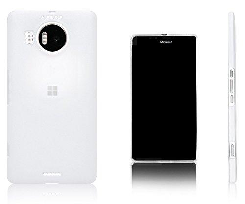 Xcessor Vapour Funda Carcasa de TPU Gel Flexible para Microsoft Lumia 950 XL. Blanco Opaco