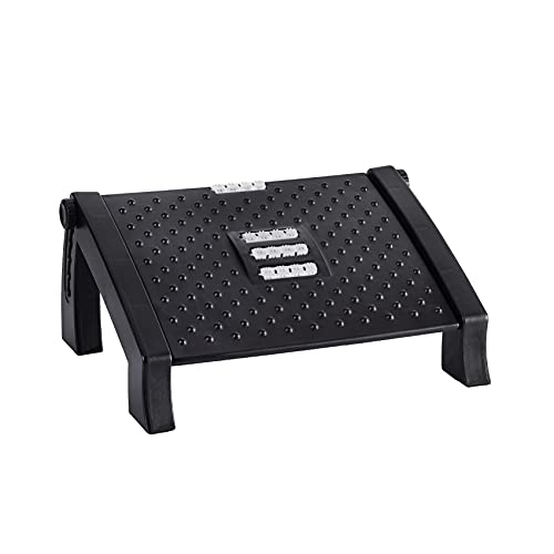 Office Foot Rest Under Desk Adjustable Footrest for 6 Heights Ergonomic Footrest for Under Desk Foot Rest with Massage Surface to Reduce Leg Pressure and Promote Leg Circulation
