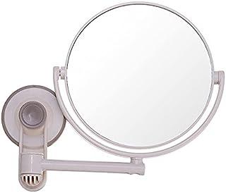 مرآة مثبتة على الحائط بكوب شفط 360 درجة مزدوجة الجوانب ، مرآة حلاقة مكبرة 3X ، مرآة حمام مستديرة