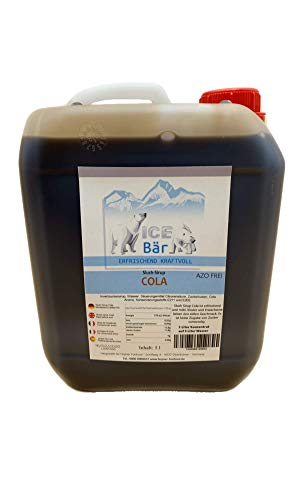 ICE BÄR Sirup Slush Konzentrat Slush Ice / Slush AZO FREI Eis Cola 5 Liter Ergibt 30 Liter Slush
