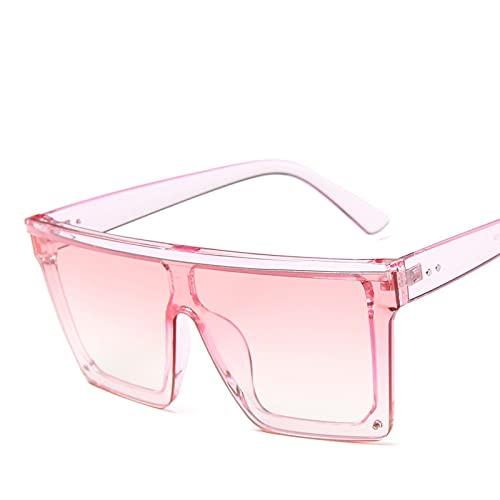 ShSnnwrl Único Gafas de Sol Sunglasses Gafas De Sol Clásicas para Hombre con Parte Superior Plana para Hombre, Gafas De Sol con D