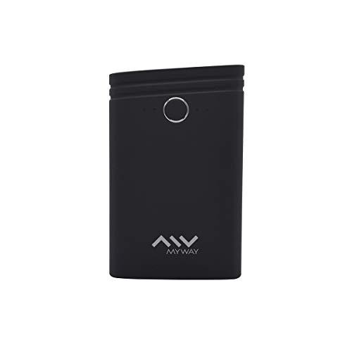 My Way MWCHP0093 - Batería Externa 7500 mAh (Incluye Cable USB-Micro USB), Negro