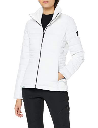 Regatta Lustel Chaqueta acolchada, tejido ligero con aislamiento y bolsillos con cremallera Baffled/Quilted Jackets, Mujer, White, 8
