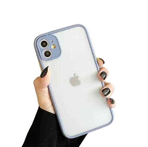 WODETIAN Compatible con Funda iPhone 12 / 12Pro / 12 Pro MAX Ultra híbrida Carcasa de TPU Ultrafina antiarañazos y a Prueba de Golpes Carcasa de Silicona Flexible,Blanco,12pro