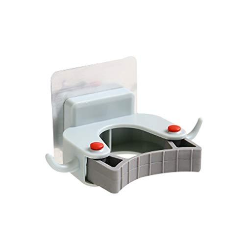 WDX- Hook Up colgantes ganchos de la hebilla for Mop clips Baño Punch-libre de la fregona de almacenamiento sujeciones de pared titular de la tarjeta que cuelga fijo Conveniencia ( Color : Blue )