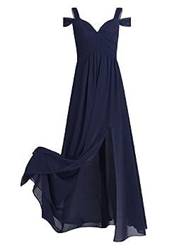 Best long navy chiffon dress Reviews