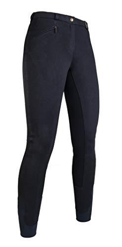 HKM Vollbesatz Reithose Wülfer X mit elastischen Beinabschluss für Damen, schwarz mit schwarzen Besatz, Größe: 38