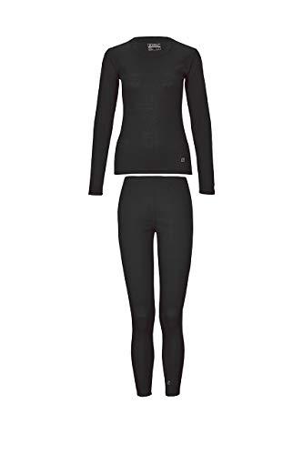 Killtec Zestaw damskiej bielizny funkcyjnej, bielizna narciarska, bielizna termiczna, czarna, 52