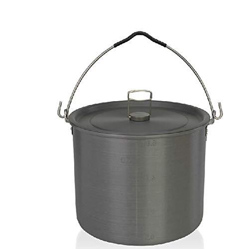 HWYYGL Camping kachel + pot, Rugzak Camping Pot + Kookgerei Set, Wandelen kookgerei, butaan propaan brander, outdoor aluminium lichtgewicht camping pot kookplaten