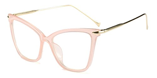 occhiali da vista finti BOZEVON Classico Retrò Moda Lente Trasparente Occhiali da Sole per Donna Occhio di gatto Oversized Occhiali