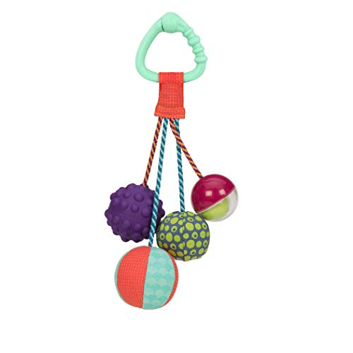 B. Toys – Sounds So Squeezy – Rattle Ball – Sensory Toy with Colors