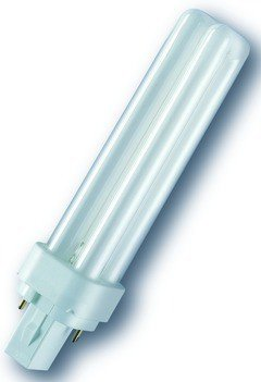 LAMPADA DULUX D G24-d2 OSRAM 18W LUCE CALDA 2700K 827