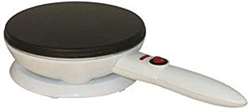 DLC Non Stick Handheld crepe Maker Plate cize 8 inch, 700W, White bowl Included
