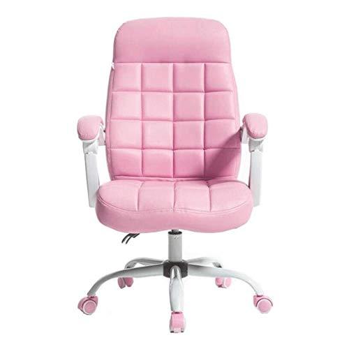 LXDYZ Chaise de Bureau - Flash Meubles en Cuir exécutif pivotant Chaise de Bureau avec Base et Bras Rose