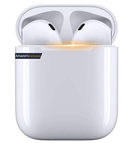 Auriculares Inalámbricos, Auriculares Bluetooth 5.0 con Micrófono,Auriculares Bluetooth inalámbricos con Mini Caja de Carga,IPX5 Impermeable,Reproducción 24 Horas,para iPhone/Airpods/Samsung