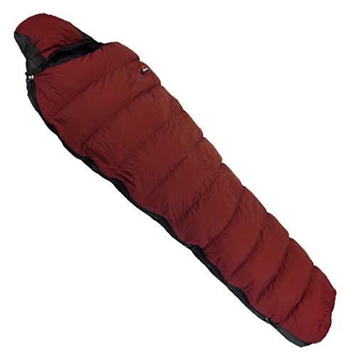 NANGA(ナンガ) 寝袋 アウトレット訳ありダウンシュラフ300STD 最低使用温度-4度 ダークレッド 右ジッパー