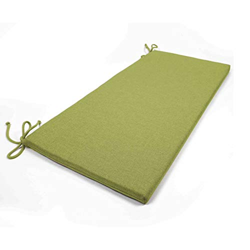 Arketicom 2 Coussins De Chaise et banquets Rectangulaire avec 2 Lacets en Mixte Coton Couleur Verts 40x50x3 cm