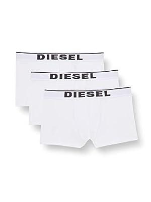 Diesel Men's UMBX-damienthreepack Boxer 3pack All-timers, Medium/White, L from Diesel
