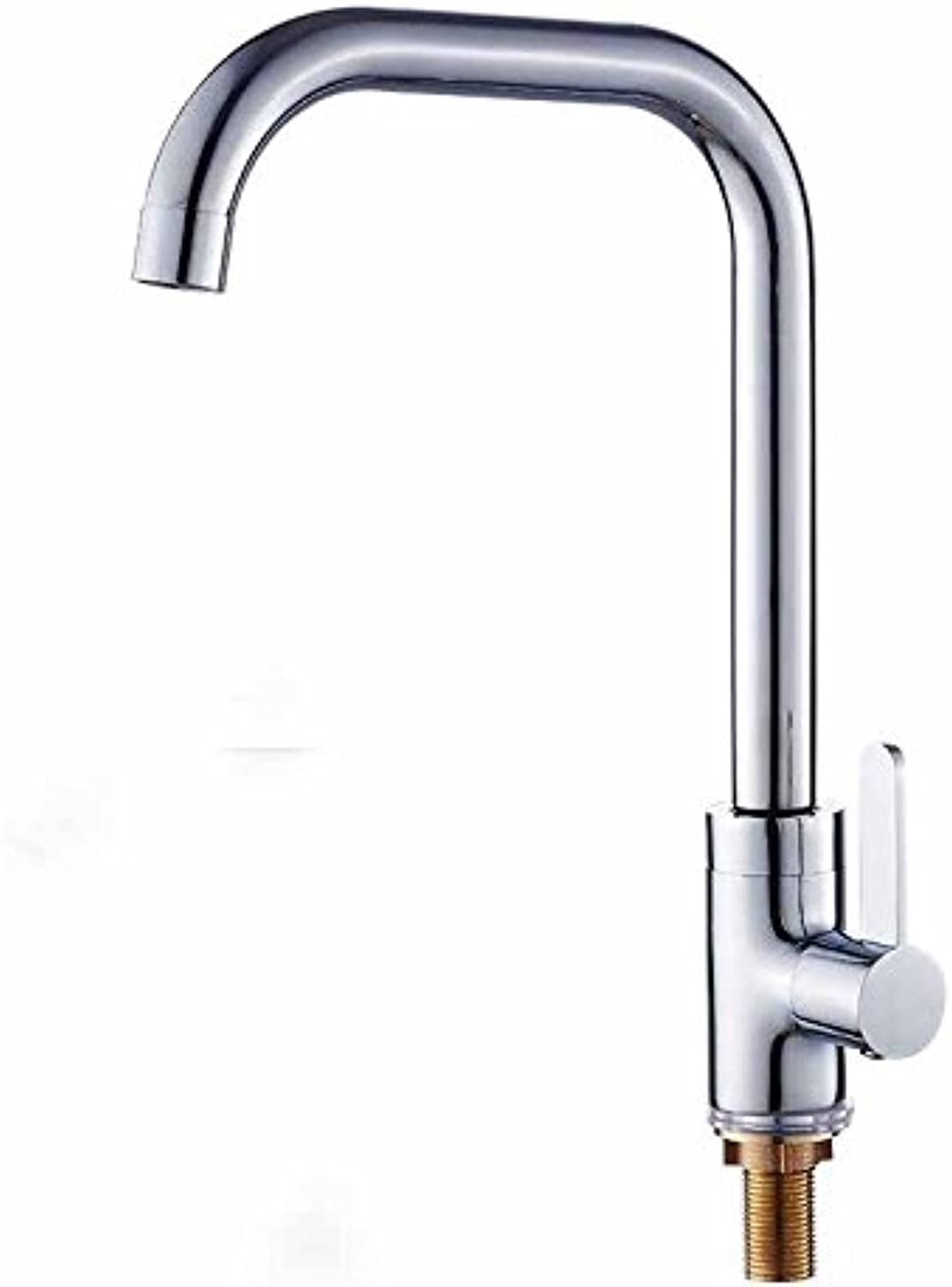 MulFaucet Faucet Water tap Taps Swivel Hoses Kitchen hot and Cold Copper redatable Household Single Handle Single Hole C