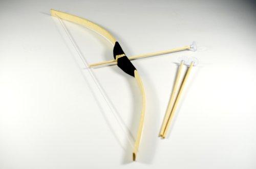 G8DS® Kinder Bogen Bambus 70cm + 3 Saugnapf Pfeile Indianer Holzbogen Set Ritter