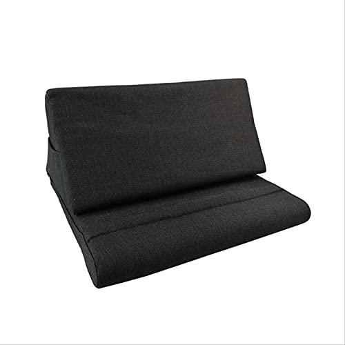 Soporte De Tablet A para iPad, Almohadilla De Almohada, Almohadilla Plegable, Almohadilla para Casa, Oficina, Viaje Negro