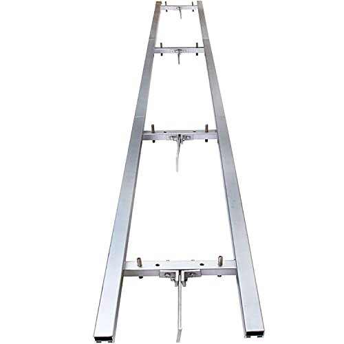 Aremae Rail Mill Guide System 9 FT,Chainsaw Mill Rail Guide,Milling Rail System,3 Crossbar Kits Works with Saw Mill,Aluminum Steel 9 FT Rail Mill System,SilverChainsaw MillGuide.