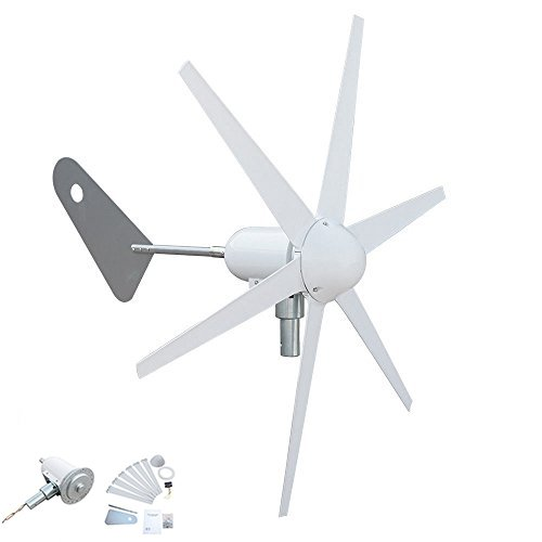 Generador de turbina de viento con control de carga de 300 W, 6 cuchillas, especial para carga de batería DC12 V
