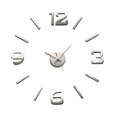 Versa Reloj de Pared de Pegatina 70 x 70 x 3 cm