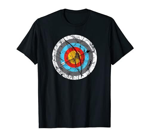 Bogenschießen Bogen Jagd Bogen Ziel Pfeil Männer Frauen T-Shirt