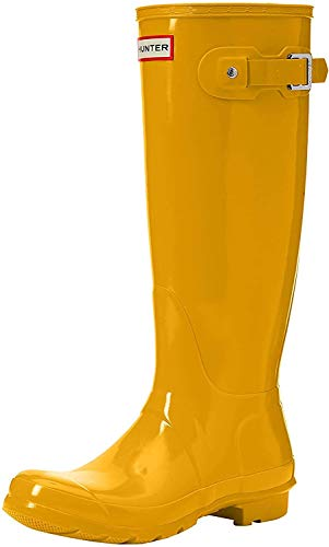 Hunter High Wellington Boots, Botas de Agua para Mujer, Amarillo (Yellow Ryl), 38 EU