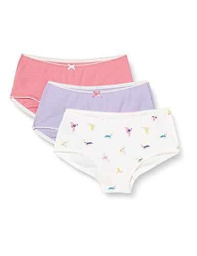 Petit Bateau Mädchen 5593300 Unterwäsche, Lila Pink Weiß/Multico, 4 Jahre