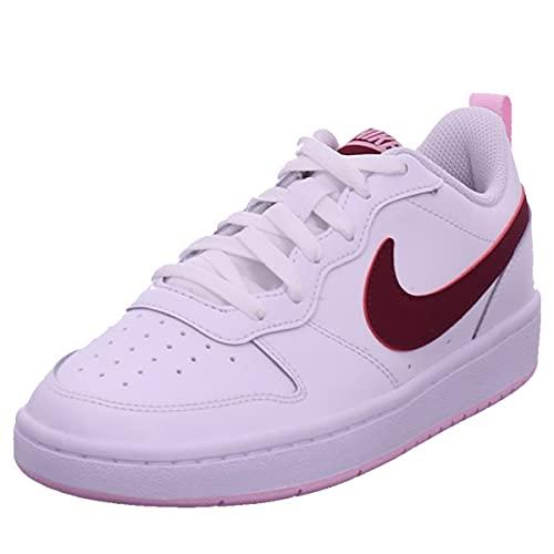 Nike Court Borough Low 2 Basketballschuh, Bordeauxweiß, 38.5 EU