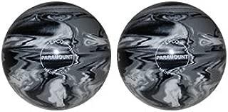 EPCO Duckpin Bowling Ball- Marbleized - Black, White & Grey - 2 Balls