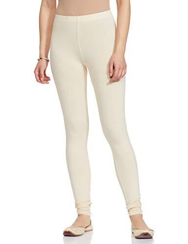 GO COLORS Women's synthetic chudidar Bottom (LC-ECRU47-S_Ecru_Small)