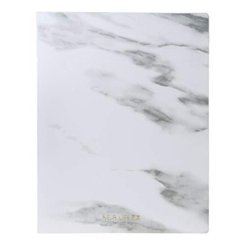 YUYUE21 Marmor Muster PP A4 Datei Informationen Ordner Dokumentenhalter Business Aktentasche für Office School Students Geschenke Lieferungen