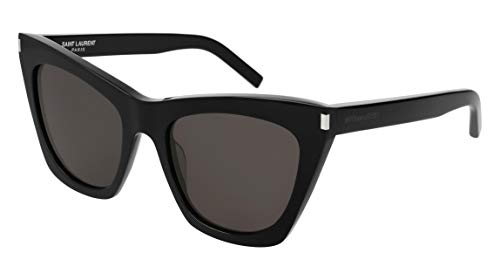 Saint Laurent SL214 001 Black Kate Cats Eyes Sunglasses Lens Category 3 Size 55mm