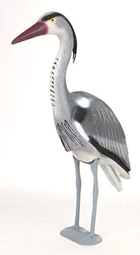 XL Reiher Fischreiher Gartendeko Teichdeko Reiherschreck Gartenfigur Teichvogel