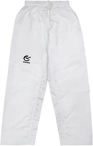 Playwell Elite Ultra Léger Blanc Arts Martiaux Karaté Pantalon Entraînement (Maille Panneaux) - Neuf - Blanc, 150cm