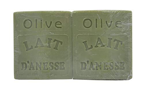 Savon au Lait d'Ânesse - parfum OLIVE - Made in France (2X100G)