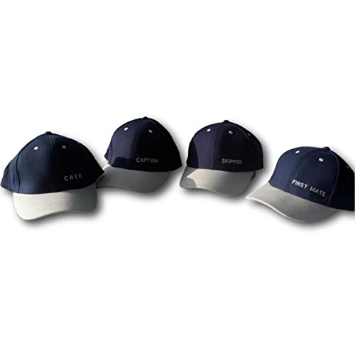 Chapeau capitaine / Skipper / Second / Équipage - Lot de 4
