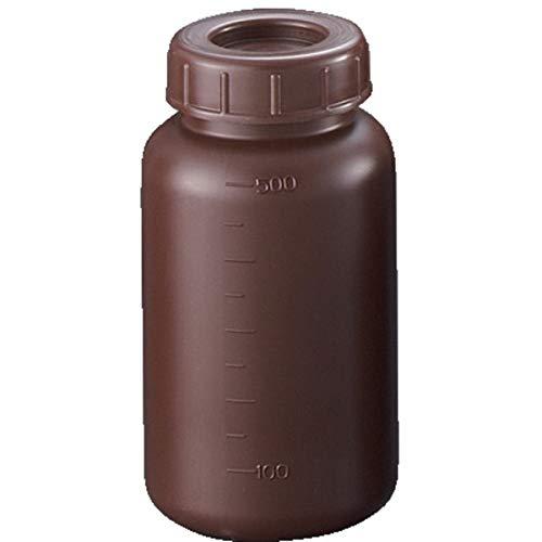 【セット品】 サンプラ PE広口遮光瓶 500ml 2912 (1箱100個入)