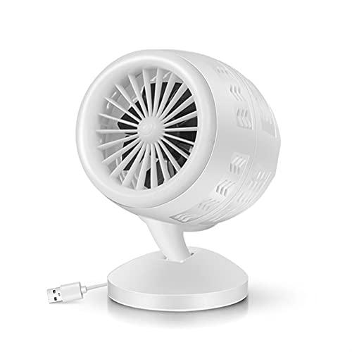 OYZY Máquina Calentadora De Invierno De Espacio Personal Portátil, Mini Calentador De Aire Caliente Eléctrico, Estufa De Calefacción De Escritorio Radiador con USB Ventilador (Color : White)