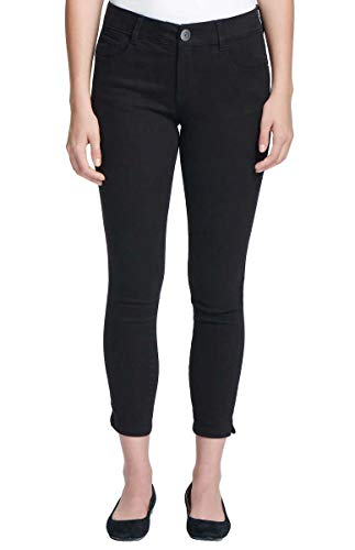 G.H. Bass & Co. Women's Stretch Skinny Ankle Crop Pants (Black, 8)