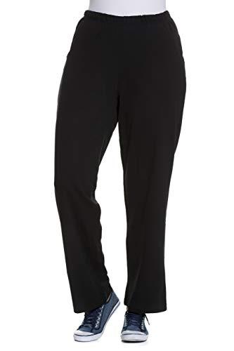 Ulla Popken Jogginghose, Pantalones para Mujer, Negro (Schwarz 10), 50/52 EU