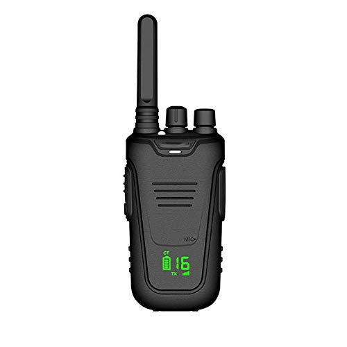 Z-Color 5W walkie Talkie de Largo Alcance 10KM Potente walkie Talkie Canal 99 de Almacenamiento, con el LCD/Alarma de Baja tensión Soporte VOX, for la construcción del Sitio (2 Piezas, Negro)