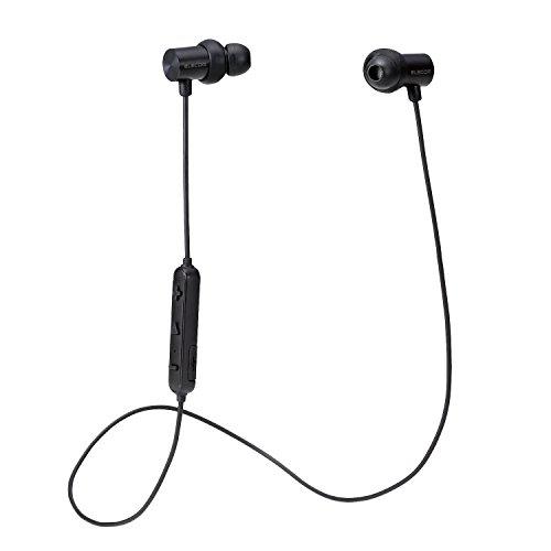 エレコム Bluetooth ブルートゥース イヤホン ワイヤレス マグネット搭載 AAC対応 HPC21シリーズ 1年間保証 ブラック LBT-C/HPC21MPBK