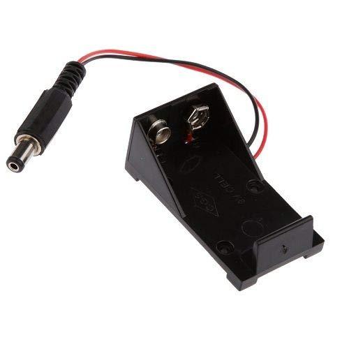 Portapilas para 1 Pila 6LR61 9V Arduino DC 5.5x2.1 mm