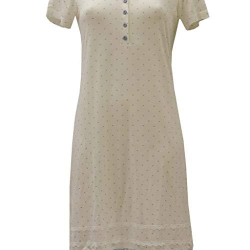 Tessilbianco Camicia da Notte Estiva A Manica Corta in Viscosa - Polvere, 44